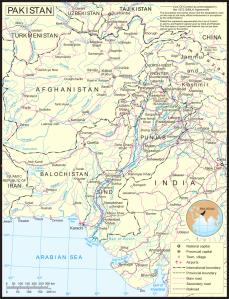 Carta-politica Pakistan